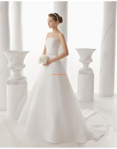 trägerloser Ausschnitt Crystal detailliert Reißverschluss Brautkleider 2014