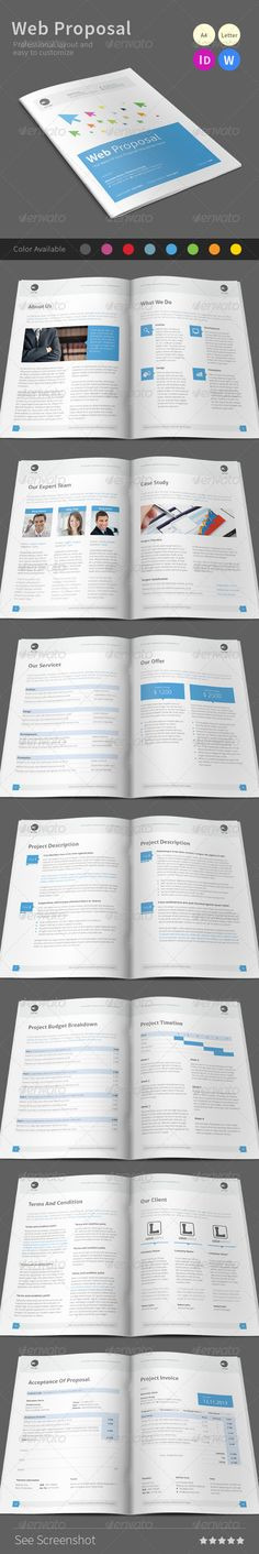 Project Proposal Template Design This proposal is made in indesign - website proposal template
