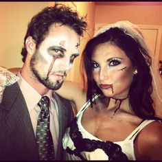 Zombie bride and groom <3