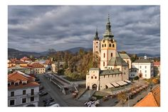 Banska Bystrica, Slovakia. To be very technical, I only drove past it in a bus, but it seems a lovely city. 2010.