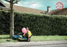 funny bubble gum ad