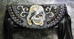 Motorcycle Tool Bag Skull (SOLD)
