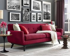 Decorating with a red couch red sofa living room decor red sofa living room modern marvelous . decorating with a red couch Living Room Interior, Interior Design Living Room, Living Room Designs, Red Couch Living Room, Red Living Room Decor, Grey And Red Living Room, Red Sofa Decor, Red Couch Decorating, Decor Pillows