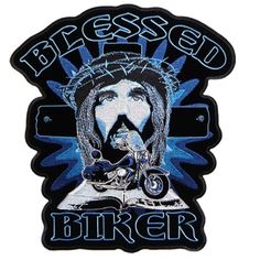 Hot Leathers Blessed Biker Patch (3″ Width x 4″ Height)  http://bikeraa.com/hot-leathers-blessed-biker-patch-3-width-x-4-height/