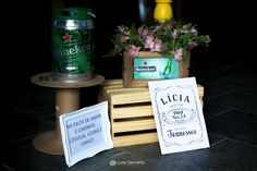 Cha Bar, Party Gifts, Wedding, Content, Gift Ideas, Couples Shower Themes, Heineken, Weddings, Amor