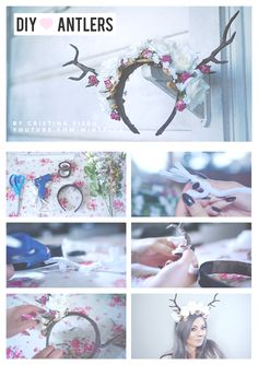 DIY / how to make a antler flower crown <3