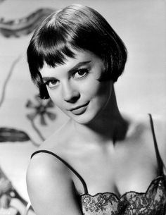 Natalie Wood With Short Hair Art Print by Retro Images Archive Short Punk Hair, Short Wavy, Short Hair Cuts, Vintage Short Hair, Short Hair Model, Natalie Wood, Best Beauty Tips, Beauty Hacks, Baby Bangs