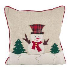 The Holiday Aisle Randle Christmas Snowman Applique Design Decorative Throw Pillow Christmas Sewing, Christmas Snowman, Christmas Ornaments, Christmas Applique, Throw Pillow Sets, Decorative Throw Pillows, Christmas Cushions, Best Pillow, Cotton Pillow