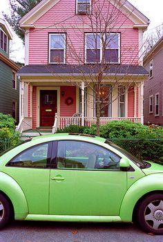 pink and green is such a pleasing colour combo ~ Slug Bug ~ Beetle Mania ~ Love Bug