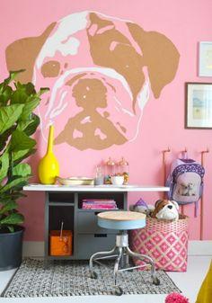 Wandgestaltung Farbe Wandfarben Ideen Rosa