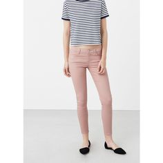 MANGO Skinny Paty Jeans (€36) ❤ liked on Polyvore featuring jeans, mango jeans, skinny jeans, 5 pocket jeans, zipper skinny jeans and zipper jeans