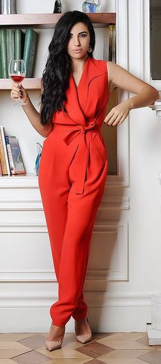 Valentine's Red Jumpsuit by Duygu Senyurek i want to make this....cute