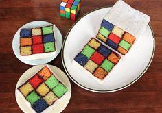 A Rubik's Cube Birthday Cake!