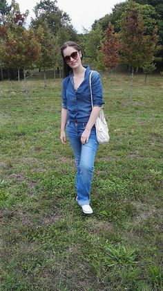 Total look denim #look #entretiempo #denim #vigo #blue #azul #outfit #streetstyle