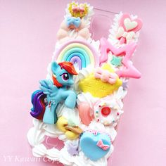 Made to Order Custom Made My Little Pony Rainbow Dash Kawaii Silicone Phone Case for IPhone 4, IPhone 5, Samsung Galaxy S2 S3 S4, HTC One