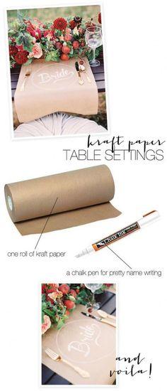 www.weddbook.com everything about wedding ♥ DIY Kraft Table Settings #weddbook #wedding #diy
