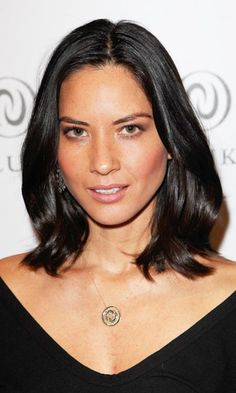 With oval-shaped faces, eyes a set a little lower. So a style like Olivia Munn's draws the attention down a bit, complementing the shape. -Cosmopolitan.com