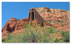 Sedona, Arizona  Church of the Holy Cross built by a Frank Lloyd Wright disciple in 1956