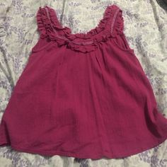 Crinkly pink tank. Flowy tank great for the beach. Cute tie in the back. O'Neill Tops Tank Tops