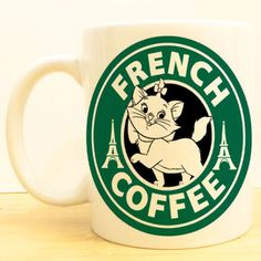 Marie French Paris Coffee Mug   Aristocats Starbucks   Disney
