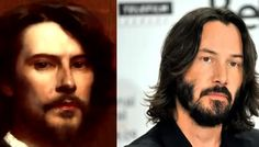 Keanu Reeves resembles Louis-Maurice Boutet, a French painter and illustrator of children's books.