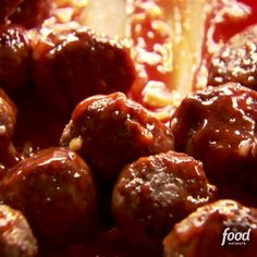 Make Ree's Barbecue Meatballs ahead of time for the perfect stress-free, game-day dish. Make Ree's Barbecue Meatballs ahead of time for the perfect stress-free, game-day dish. Food Network Recipes, Gourmet Recipes, Appetizer Recipes, Dinner Recipes, Cooking Recipes, Healthy Recipes, Meat Appetizers, Crock Pot Meatballs, Porkipine Meatballs