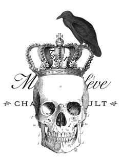 Skull Crown Crow