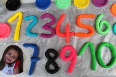 Giochiamo e impariamo i numeri con la playdoh. Learn the numbers in ital...