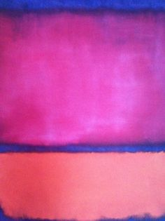 a mark rothko painting. I've got this one (not the real one of course) in my hallway and every time I get home I feel secure. Jackson Pollock, Mark Rothko Paintings, Rothko Art, Rothko Prints, Willem De Kooning, Abstract Painters, Abstract Art, Cy Twombly, Colour Field