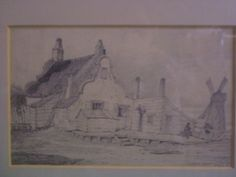 Pencil drawing, pencil on cream paper, cottage on Yarmouth Beach by Henry Davy, 1817 Norfolk Museums & Archaeology Service Great Yarmouth, Norfolk, Archaeology, Museums, Pencil Drawings, Cottage, Cream, History, Paper