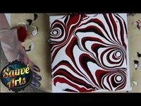 Fluid Acrylic Painting - Sharp Funky & Contrasting Lines Acrylic Resin, Acrylic Pouring, Resin Art, Acrylic Painting Lessons, Pour Painting, Acrylic Paintings, Fluid Acrylics, Resin Jewelry, Jewellery