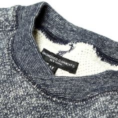 Engineered Garments Gym Crew (Heather Navy French Terry)