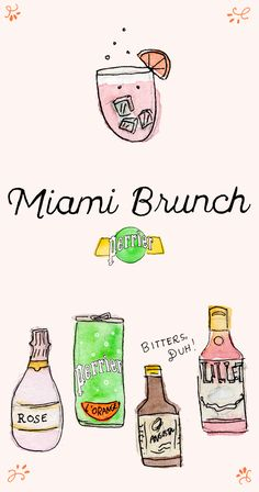 Looks like you need a Miami Brunch, with a splash of Perrier, of course. We're down at Miami Art Week and with this cocktail, you'll feel like you're right there with us. You'll need: 2 oz. Rose Wine, 2 oz. Perrier® L'Orange Sparkling Natural Mineral Water, 1 1/2 oz. Lillet, 1 dash Angostura® bitters Just combine in a wine glass over ice, garnish with orange slice, and you're sitting poolside.