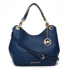 Michael Kors Bedford Large Navy blue Shoulder Bags
