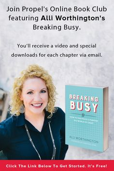 Free online book club featuring Breaking Busy. Christian Women's book.