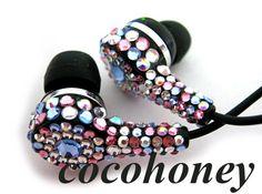 rhinestone earphones
