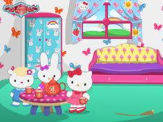 Hello Kitty House Makeover  http://www.enjoydressup.com/hello-kitty-house-makeover?ref=notset