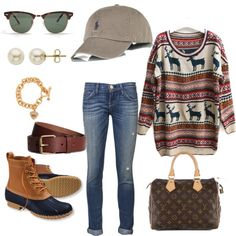 Untitled #17 by georgiagreenwell on Polyvore featuring moda, Current/Elliott, L.L.Bean, Louis Vuitton, Lord & Taylor, Juicy Couture, H&M, Ray-Ban and Polo Ralph Lauren