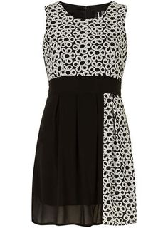 Izabel London Multi Black Floral Panel Dress - New In Clothing - New In
