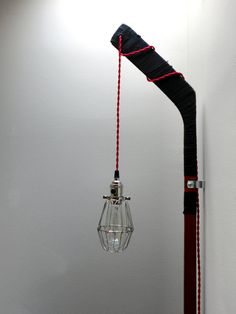 Vintage Hockey Stick Cage Light red cloth twisted by OVERSPRAYkc