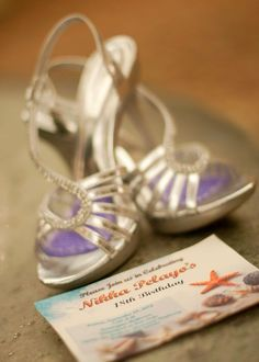 my shoes and invitation for my debut (filipino 18th birthday)