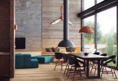 Awesome Industrial Lofts Ideas : House Tours, Loft Layout, Industrial Interior, Open Plan