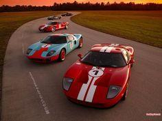 Ford GT40s 4 time winner of LeMans - Lee Iacocca's Ferrari killer