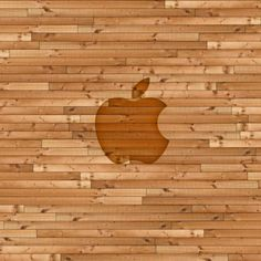 Wooden Apple Planks - iPad Wallpaper