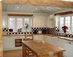 cream and black kitchen - Google Search