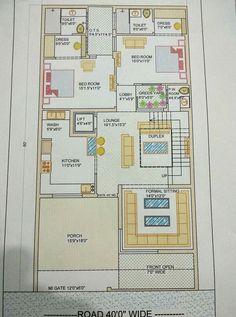 2bhk House Plan, Model House Plan, House Layout Plans, House Layouts, 40x60 House Plans, Open Floor House Plans, Home Map Design, Home Design Plans, Bungalow House Design