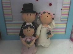 Handmade Cake topper Wedding Family made by RUSTIKOcakeDecoratio, €40.00