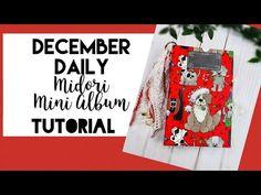 Christmas Mini Albums, Christmas Minis, Mini Album Tutorial, December Daily, Junk Journal, Paper Crafts, Youtube, Scrapbooks, Tutorials
