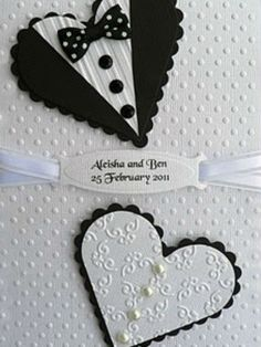 Cartão em preto e branco.