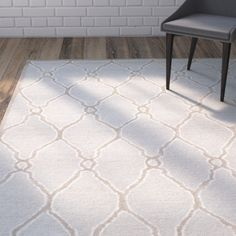 Found it at Joss & Main - Sandra Ivory & Grey Geometric Wool Hand-Tufted Area Rug